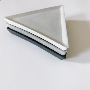 Triangle Concrete Accessory Tray - Femme Wares Niagara Local Small Business