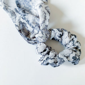 Hair Scarf Scrunchie - Snakeskin - Femme Wares Niagara Local Small Business