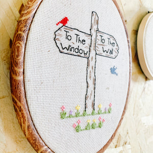 To the Window, To the Wall Embroidery Art - Femme Wares Niagara Local Small Business