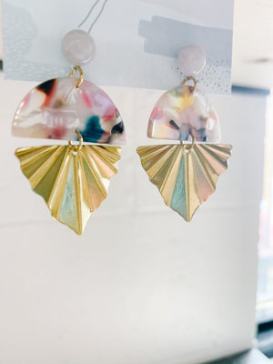 Rainbow Fan Earrings - Femme Wares Niagara Local Small Business
