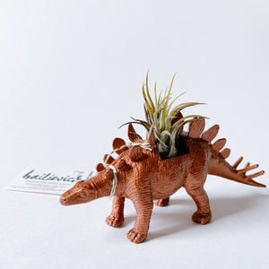 Copper Dinosaur Air Planter - Stegosaurus - Femme Wares Niagara Local Small Business