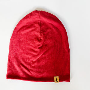 Bamboo Beanie - Burgundy - Femme Wares Niagara Local Small Business