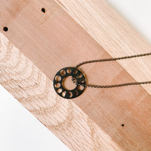 Lunar Cycle Necklace - Femme Wares Niagara Local Small Business