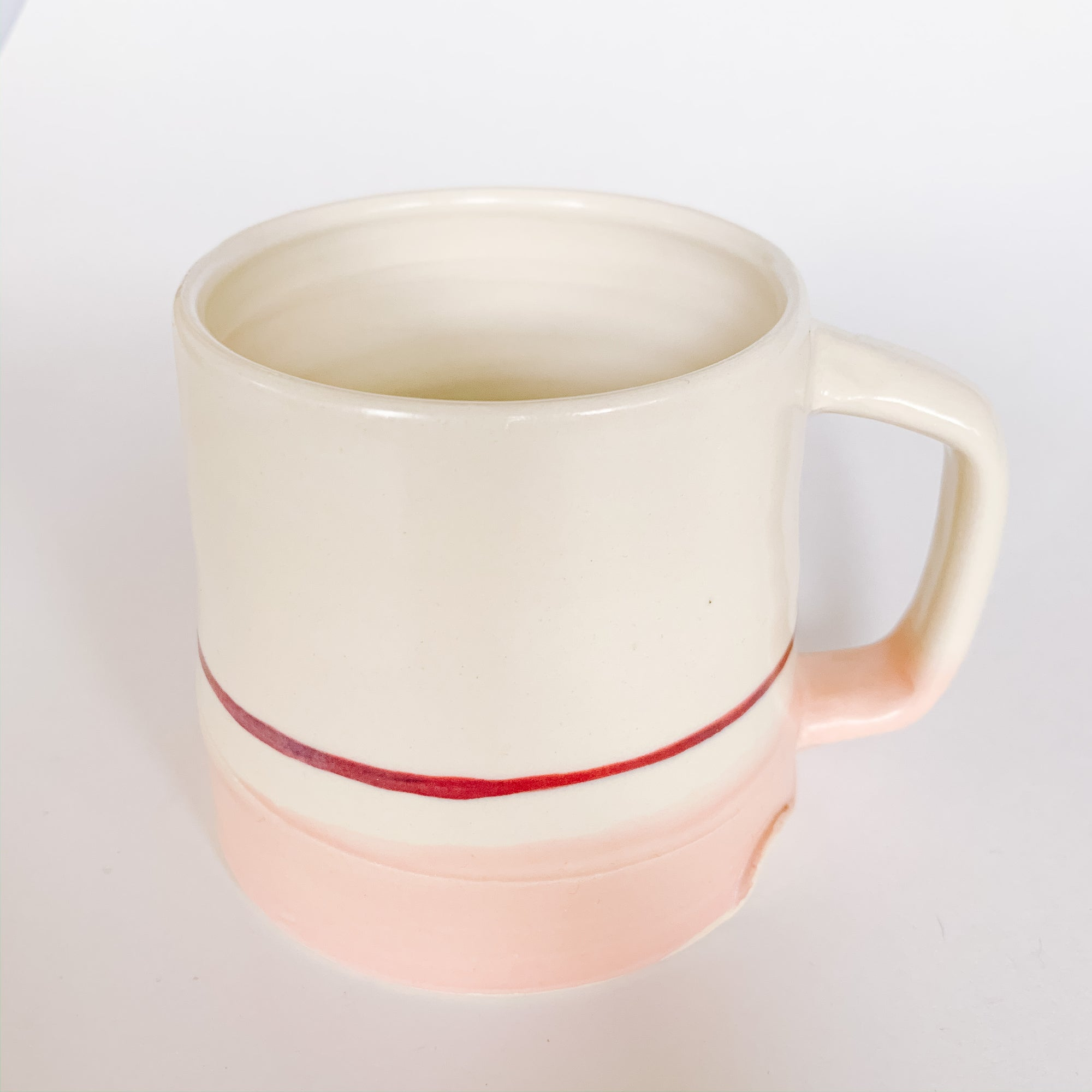 Pink Handcrafted Coffee Mug - Femme Wares Niagara Local Small Business