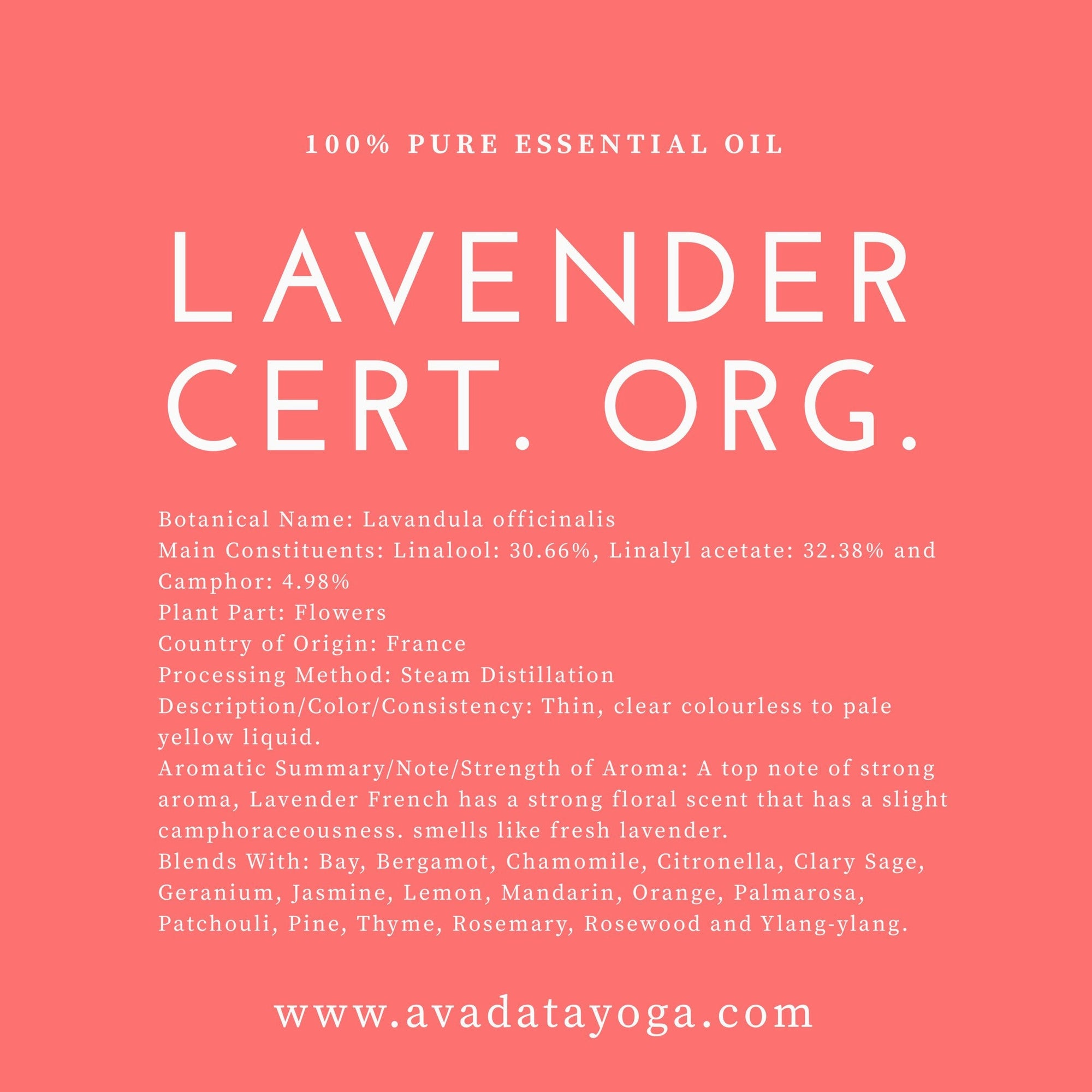 Lavender Essential Oil - Certified Organic - Femme Wares Niagara Local Small Business
