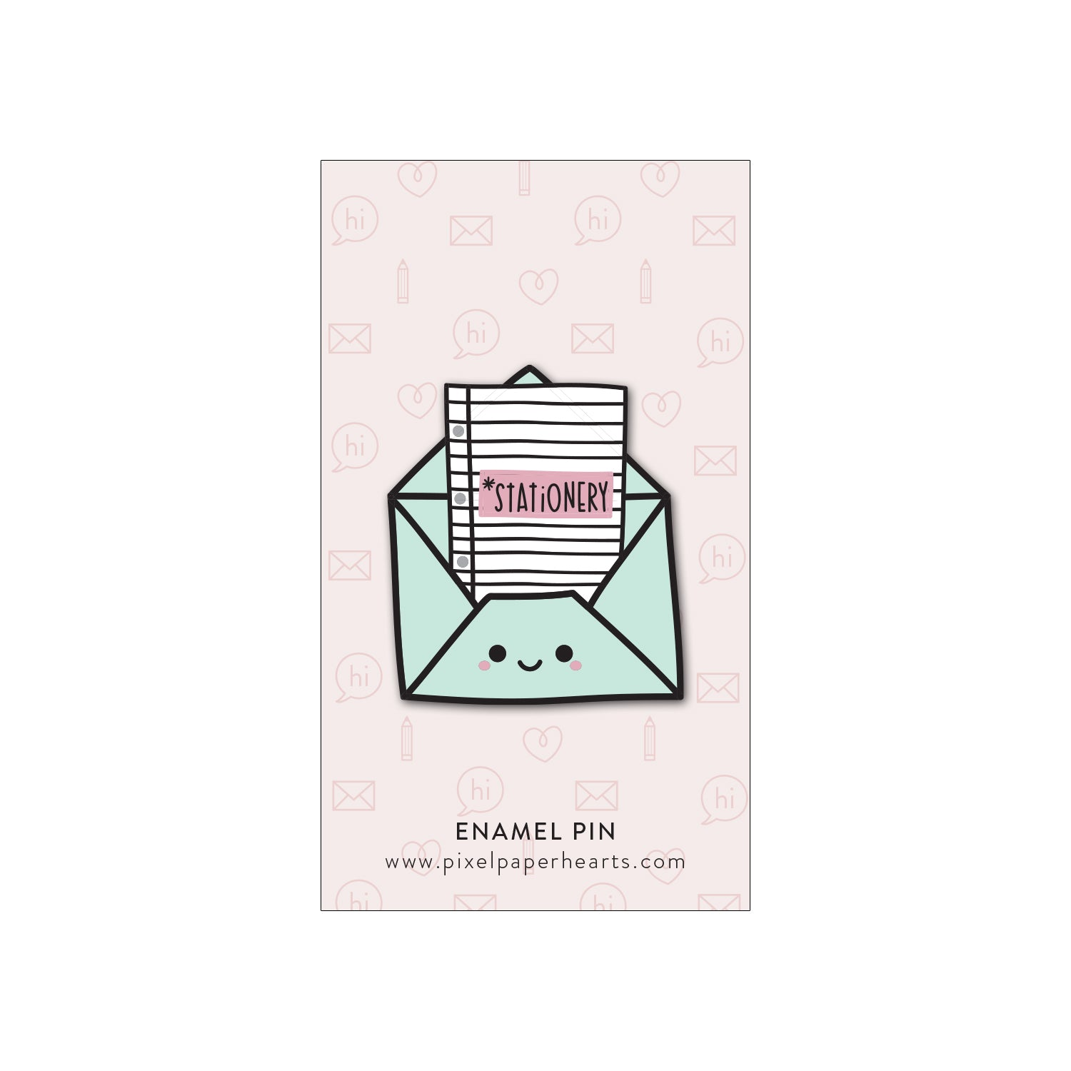 Stationary Enamel Pin - Femme Wares Niagara Local Small Business