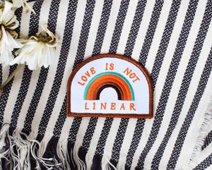 Love is Not Linear Iron On Patch