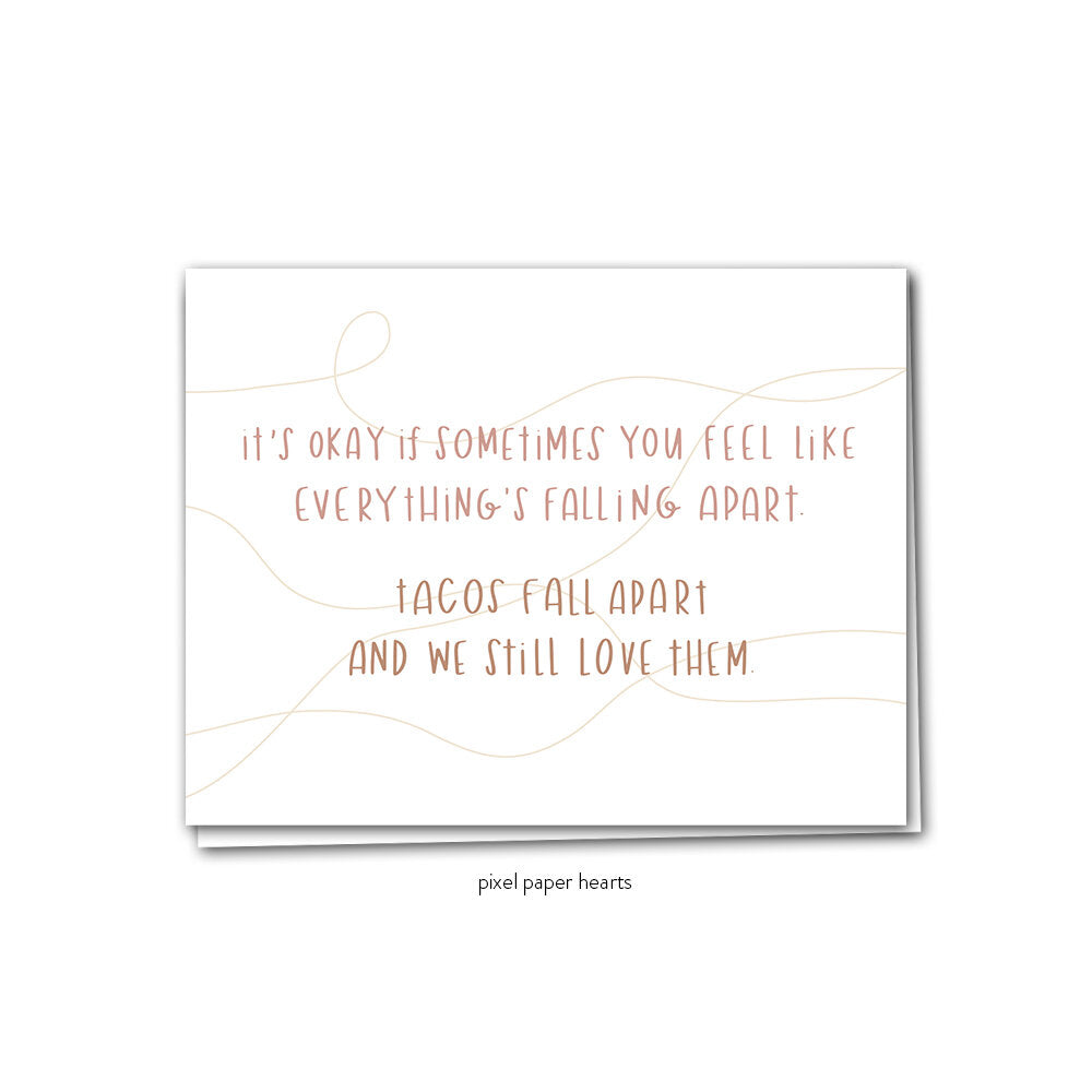 Taco Love Greeting Card - Femme Wares Niagara Local Small Business