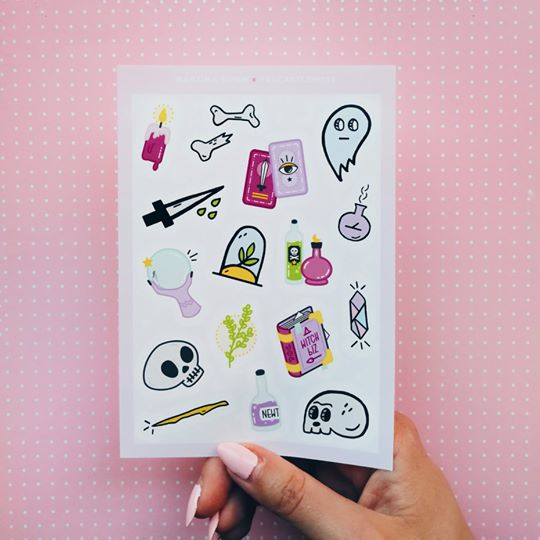 Witchy Sticker Sheets - Femme Wares Niagara Local Small Business