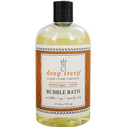Deep Steep Brown Sugar-vanilla Organic Bubble Bath 17 Oz By Deep Steep