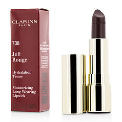 Clarins Joli Rouge (long Wearing Moisturizing Lipstick) - # 738 Royal Plum --3.5g-0.1oz By Clarins