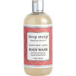 Deep Steep Passionfruit-guava Shea Butter Body Wash 17 Oz By Deep Steep