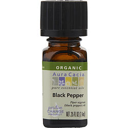 Aura Cacia Black Pepper-organic Essential Oil .25 Oz By Aura Cacia