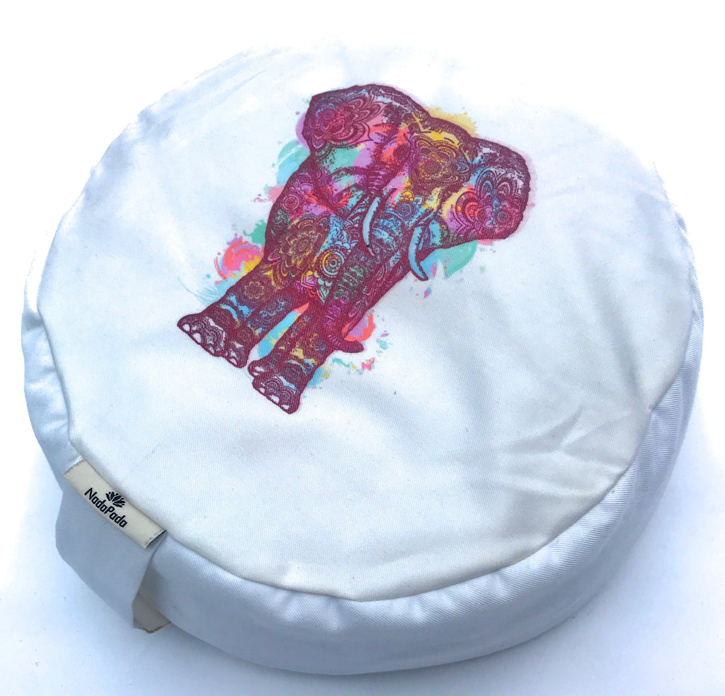 Kids Mindfulness Cushion - White Elephant