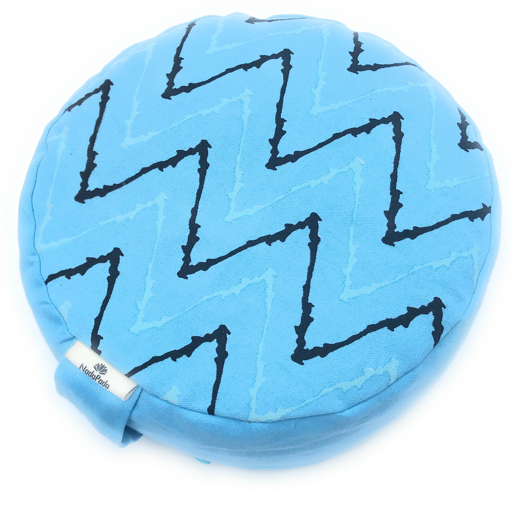Kids Mindfulness Cushion - Blue Lightning