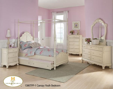 The Cinderella Collection  Bedroom Set ( 1386TPP-1 ) - Aldergrove Furniture Warehouse