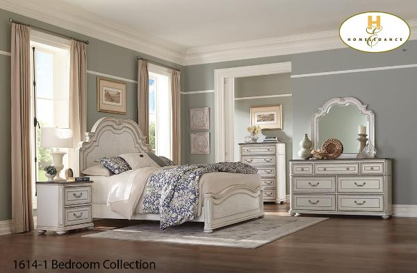 Traditional Two tone Bedroom Collection(1614-1) - Aldergrove Furniture Warehouse