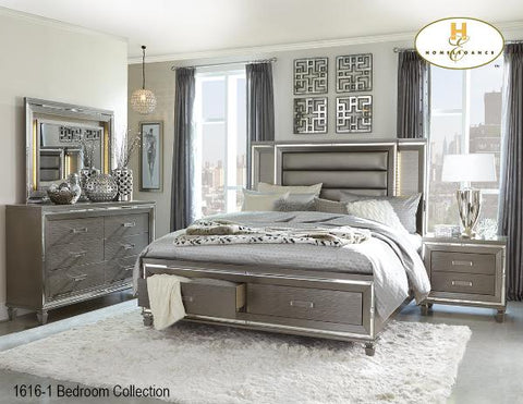 Glamour Bedroom Collection(1616-1) - Aldergrove Furniture Warehouse