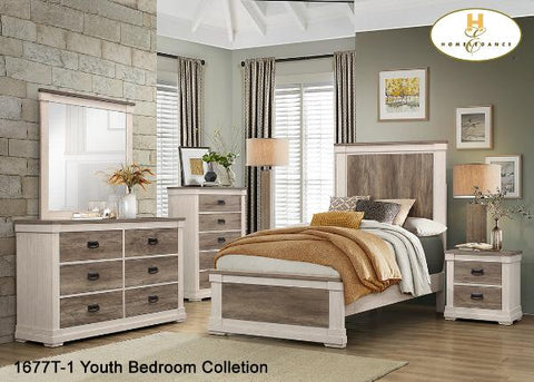 Contemporary Twin Bedroom Bedroom Set ( 1677T ) - Aldergrove Furniture Warehouse