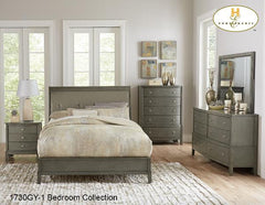Contemporary Bedroom Collection(1730GY-1) - Aldergrove Furniture Warehouse