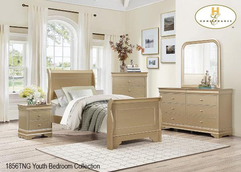 The Abbeville Collection  Bedroom Set ( 1856TNG-1 ) - Aldergrove Furniture Warehouse