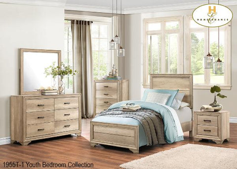 Contemporary Bedroom Collection Bedroom Set ( 1955T-1 ) - Aldergrove Furniture Warehouse