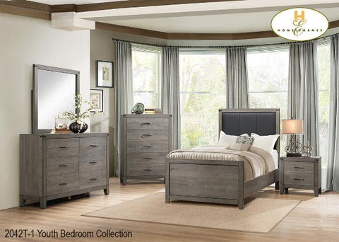 The Woodrow Collection  Bedroom Set ( 2042T-1 ) - Aldergrove Furniture Warehouse