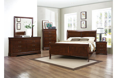 Louis Philippe Bedroom Set - Aldergrove Furniture Warehouse