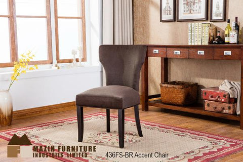 Accent Chair ( 436FS-BR ) - Aldergrove Furniture Warehouse