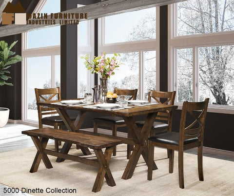 Solid Wood Live Edge Dinette Collection (5000) - Aldergrove Furniture Warehouse