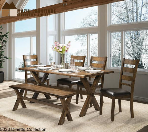 Solid Wood Live Edge Dinette Collection (5020) - Aldergrove Furniture Warehouse
