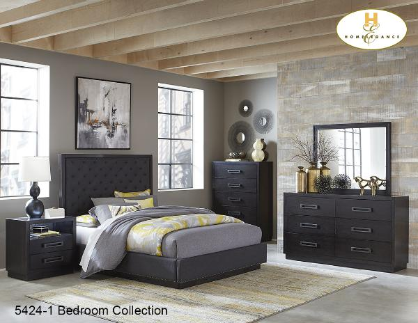 Contemporary Bedroom Collection(5424-1) - Aldergrove Furniture Warehouse