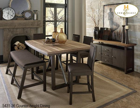 Contemporary Counter-height Dining(5431-36) - Aldergrove Furniture Warehouse