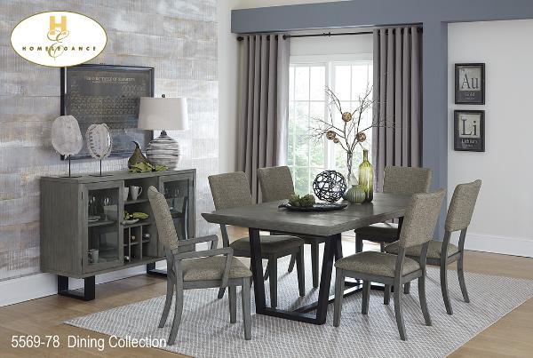 Contemporary Dining Collection(5569-78) - Aldergrove Furniture Warehouse