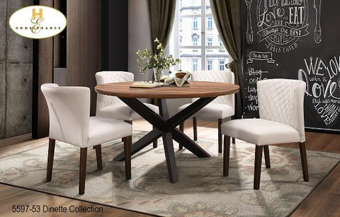 Contemporary Dinette Collection(5597-53) - Aldergrove Furniture Warehouse
