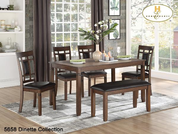 6pc Pack Dinette Collection(5658) - Aldergrove Furniture Warehouse