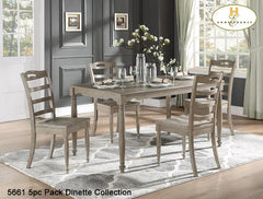 5pc Pack Dinette Collection(5661) - Aldergrove Furniture Warehouse