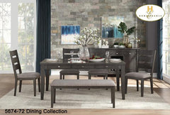 Contemporary dining Collection(5674-72) - Aldergrove Furniture Warehouse