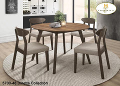 Contemporary Round Drop Leaf Dinette (5700-48) - Aldergrove Furniture Warehouse