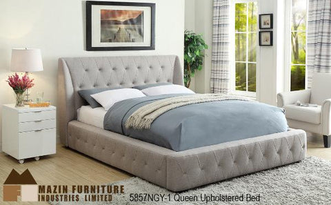 The Vienna Bedroom Collection (5857NBE-1) - Aldergrove Furniture Warehouse