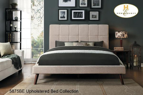 Contemporary Upholstered Bed ( 5875BE-1 ) - Aldergrove Furniture Warehouse