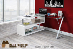 The Torino Swivel Desk ( 739WT-15 ) - Aldergrove Furniture Warehouse