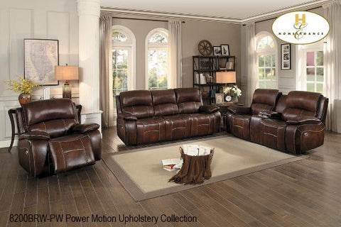 3Pc Power Motion Set ( 8200BRW-1 ) - Aldergrove Furniture Warehouse