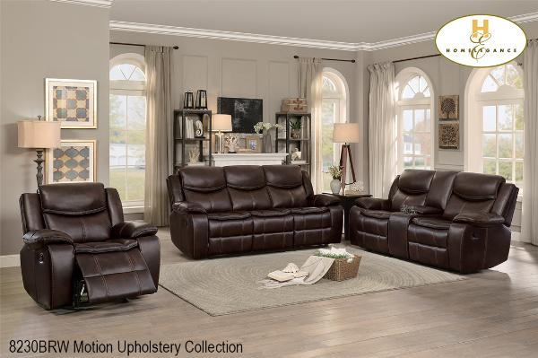 3 Pc Motion Set ( 8230BRW-1 ) - Aldergrove Furniture Warehouse