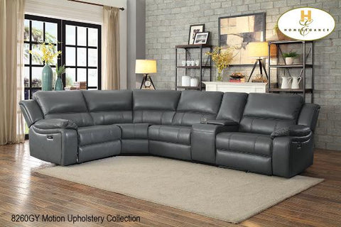 Sectional ( 8260GY ) - Aldergrove Furniture Warehouse