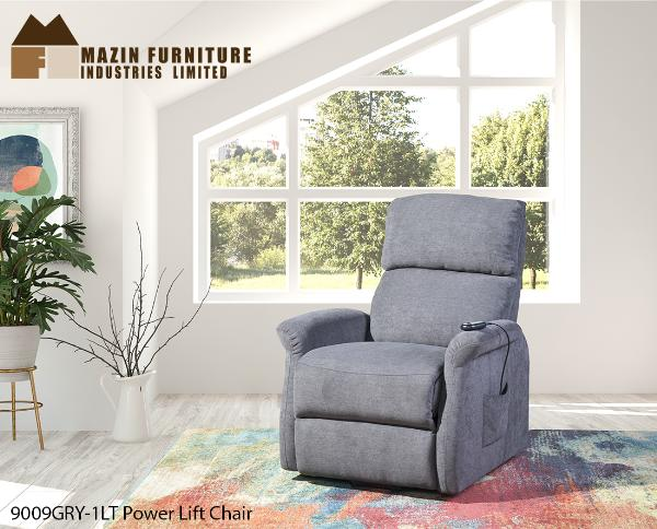 Power Lift Chair ( 9009GRY-1LT ) - Aldergrove Furniture Warehouse