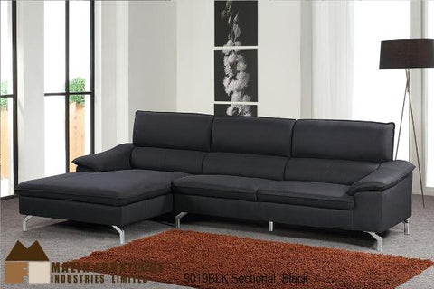 Sectional ( 9019BLK ) - Aldergrove Furniture Warehouse