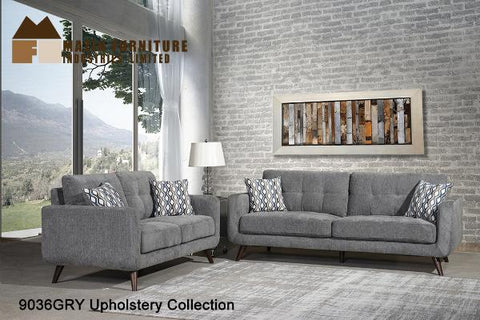 3 Pc Sofa Set ( 9036GRY-1 ) - Aldergrove Furniture Warehouse
