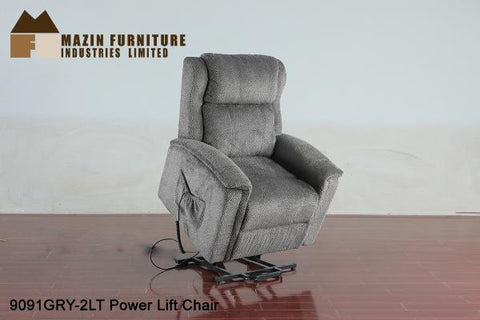 Power Lift Chair ( 9091GRY-2LT ) - Aldergrove Furniture Warehouse