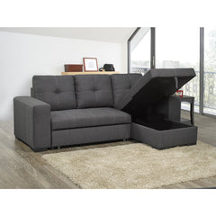 Reversible Sleeper Sectional (2 PC SET) with Pullout Bed( 9122NGY )